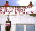 precari in protesta a Benevento